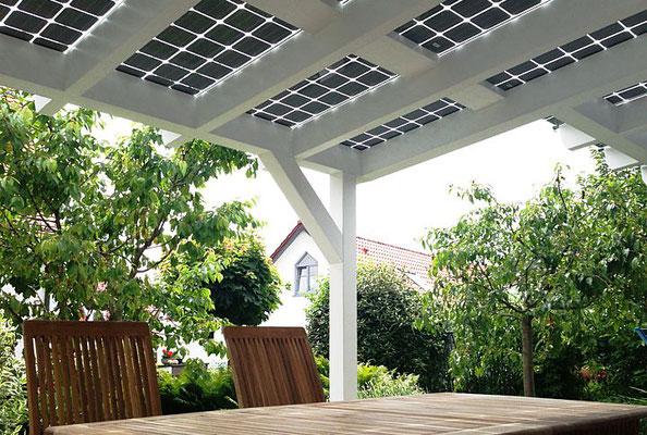 Terrasdak met solar als bouwpakket